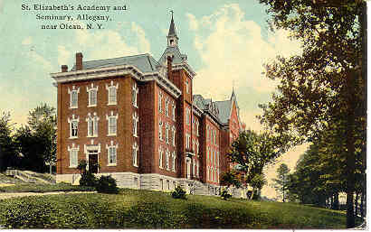 Primary image for St Elizabeths Academy Olean New York Vintage Post Card