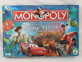 Monopoly Disney Pixar 2007 Collectors Edition Board Game Complete Biling... - $28.17