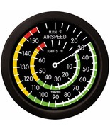 "Trintec Mega 14"" Aviation Airspeed Indicator Round Thermometer 9061-14 A... - $36.70"