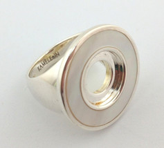 Authentic Kameleon Silver White Mother of Pearl Ring Kr-25 Kr025  Size 7... - $66.49