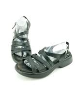 Dansko Lolita Strappy Black Leather Sling Back Sandals EU 42 Mens 9 Wmns 12 - $30.49