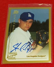 STEVE COLYER - 1999 Topps Traded Autograph #T23 LOS ANGELES DODGERS ROOK... - $1.99