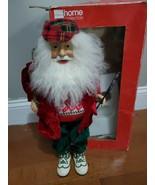 "18"" Golfer Decorative Santa JC Penny Home Collection Christmas Decorativ... - $49.49"