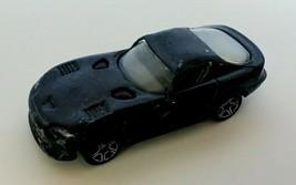 Matchbox Dodge Viper GTS Black Car 1996 Open Windows Loose Kids Toy 1:59 - $5.09