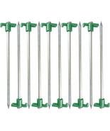 10 Pack - Steel Nail Head Steel Tent Stakes Large 10 inches - $14.99