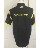NEW Valentino Rossi The Doctor Moto Black Yellow Cotton Button Up Shirt ... - $89.95