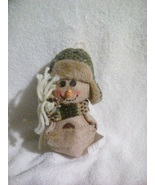 Country Burlap Snowman Ornament - $5.00