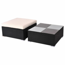 Outdoor Patio Rattan Furniture Set Infinitely Combination with Cushion - $257.13