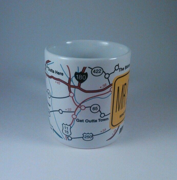 American Greetings novelty Mr. Shortcut stoneware coffee tea mug NMG 727 G