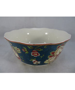 """222 Fifth Gabrielle Teal Fine China Porcelain Soup or Cereal Bowl 5""""1/2 Dia - $20.00"""