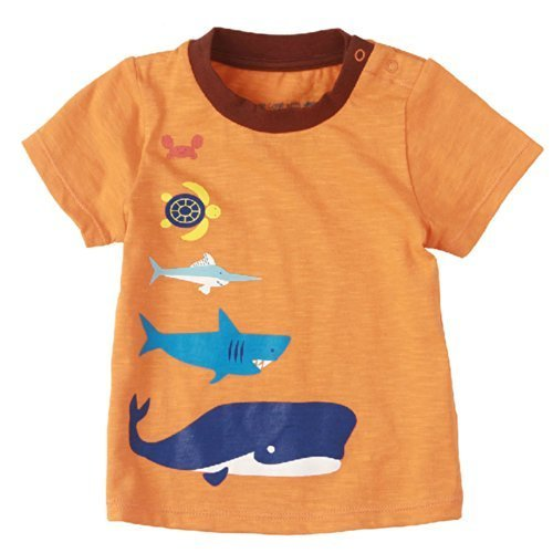 Sea World Pure Cotton Infant Tee Baby Toddler T-Shirt ORANGE 73 CM (6-12M)