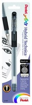 Pentel Arts Hybrid Technica 0.3 mm Pen, Ultra Fine Point, Black Ink, 1 P... - $8.13