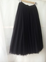 Women Black MAXI TULLE SKIRTS Black Plus Size Full Maxi Tulle Skirt image 2