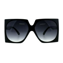 Womens Super Oversized Square Sunglasses Boxy Side Cover Shades - £8.46 GBP