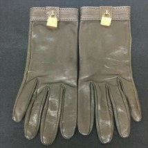 HERMES Vintage Glove Cute Bag Charm Size 8 1/2 Brown Used - $405.99