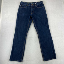 Carhartt Jeans Mens Size 34X32 Blue Straight Leg Relaxed Fit Pants - $29.99