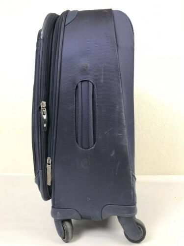 "Samsonite Xspace Rolling Suitcase Expandable Spinner Wheels 22"" Blue Luggage"