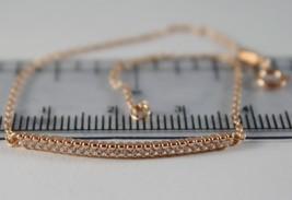 18K ROSE PINK GOLD BRACELET 7.50, MINI TENNIS & ZIRCONIA 0.50 CT,  MADE IN ITALY image 1