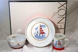 Lenox 2019 Sailboat 3 Piece Childrens Porcelain Dinner Set NIB - $62.36