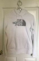 The North Face Sweatshirt PULLOVER White HOODIE XS extra small cotton blend - $12.84