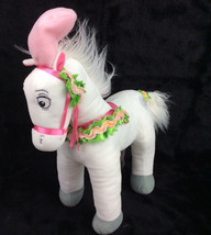 "Disney Store Cinderella White Coach Horse Plush Major Exclusive 16"" Pink... - $48.26"