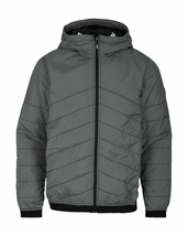 Bench Ahlo Black Charcoal Grey Quilted Lightweight Winter Jacket Hood BMKA1469 image 1