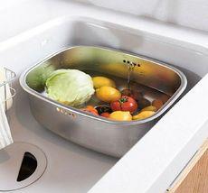 Hanssem Stainless Steel Basin Dishpan Washing Bowl Sink Basket Kitchen Multipurp image 6
