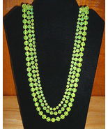 1970s Retro Beaded Necklace 56 Inches Long - $5.00