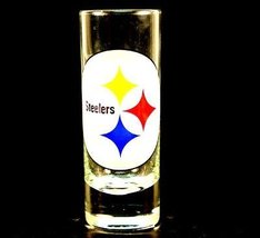 NFL Licensed Cordial Logo Hype Glass Shot Glass (2 Oz.) (Pittsburgh Stee... - $7.91