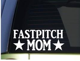 Fastpitch Mom sticker *H317* 8.5 inch wide vinyl softball glove - $3.39