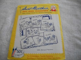 Aunt Marthan's Hot Iron Transfers~Barnyard Romance - $4.00