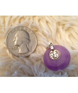 """Lavender Jade Pendant with Sterling Silver - """"Good Luck"""" - $50.00"""