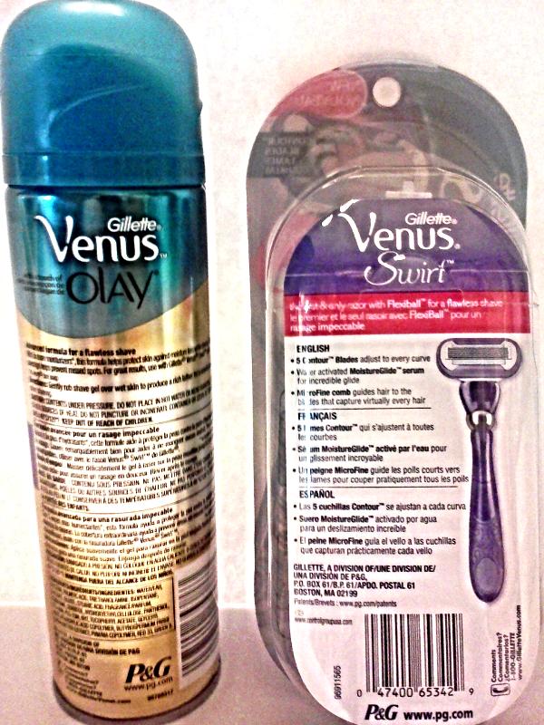 Gillette Venus Swirl Razor + Cartridge & Venus Olay Violet Swirl Shave Gel Cream