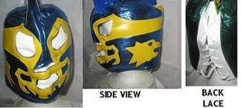 BLUE AND YELLOW LUCHADORA WRESTLING MASK   - $24.00