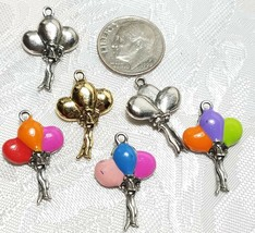 BALLOONS FINE PEWTER PENDANT CHARM - 15x23x5mm image 2