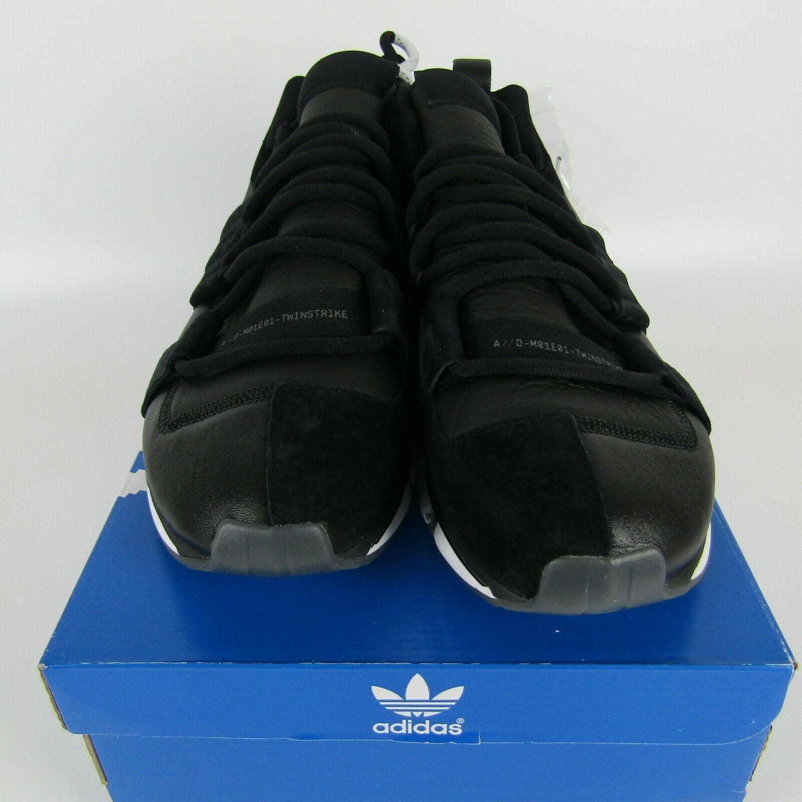 Adidas Twinstrike Adv Elástico Cuero Casual Zapatos Negros Blanco B28015 Size 13 image 3