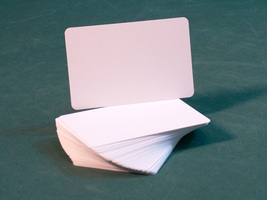 Blank White Plastic Cut Card (Bridge Size) - Single Card - $0.50