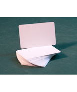 Blank White Plastic Cut Card (Bridge Size) - Si... - $0.50