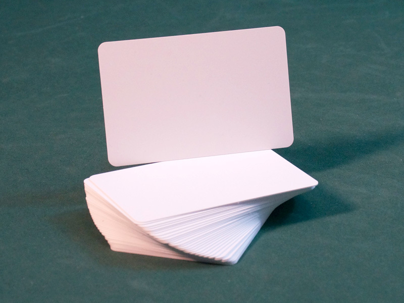Blank White Plastic Cut Card (Bridge Size) - 10 count in polybag