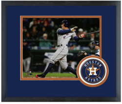 George Springer 2015 Houston Astros - 11x14 Team Logo Matted/Framed Photo - $42.95