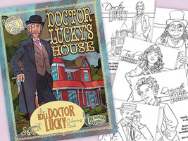 "Cheapass Games ""Kill Doctor Lucky"" Lucky Mansion Coloring Book - $5.00"