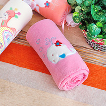 [White Whale - Pink] Coral Fleece Baby Throw Blanket  - $19.99