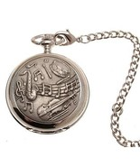 Pocket watch Musical design quartz mechanism - $52.29
