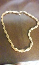 Vintage Signed Sarah Coventry Double Strand Twisted Gold Tone Mesh Chain Necklac - $12.00