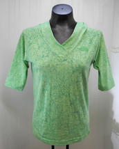 The North Face Green Floral Short Sleeve Cotton Blend Hoodie - Women's S/P - $9.45