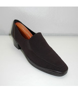 Rangoni Firenze Brown Fabric/Leather Slip-On Loafer - Made in Italy - Si... - $28.45