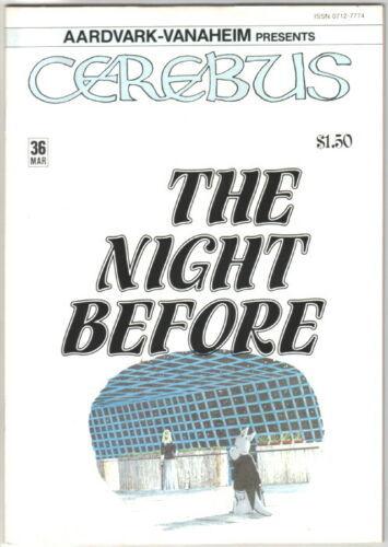 Cerebus the Aardvark Comic Book #36 AV 1982 FINE