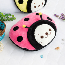 [Sirotan - Ladybug Pink] Blanket Travel Pillow Blanket  - $27.99
