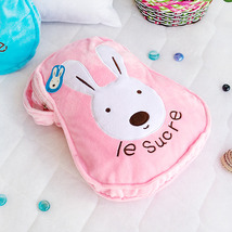 [Sugar Rabbit - Pink] Throw Blanket Travel Pillow Blanket  - $19.99