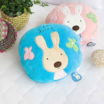 [Sugar Rabbit - Round Blue] Travel Pillow Blanket - $22.99